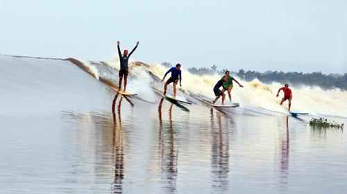 image spot de surf Pororoca au Brésil