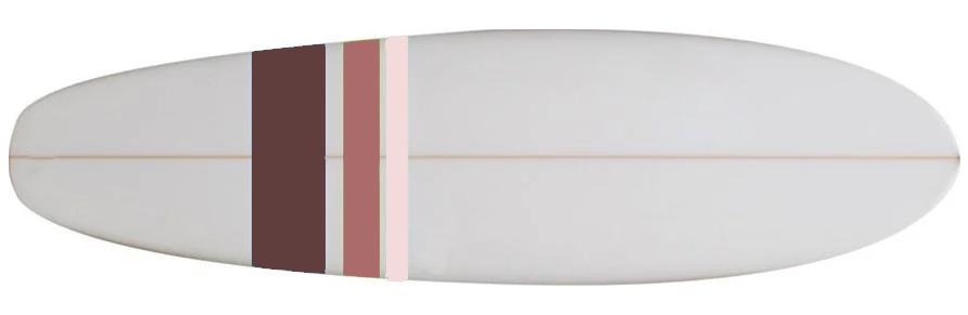 photo d'une planche de surf type mini malibu